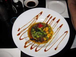 Masa Restaurant Fresh Tuna Chunks and Mango Chunks
